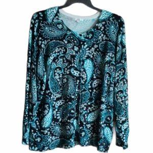 89th + Madison Long Sleeve Top Plus Size 3X EUC